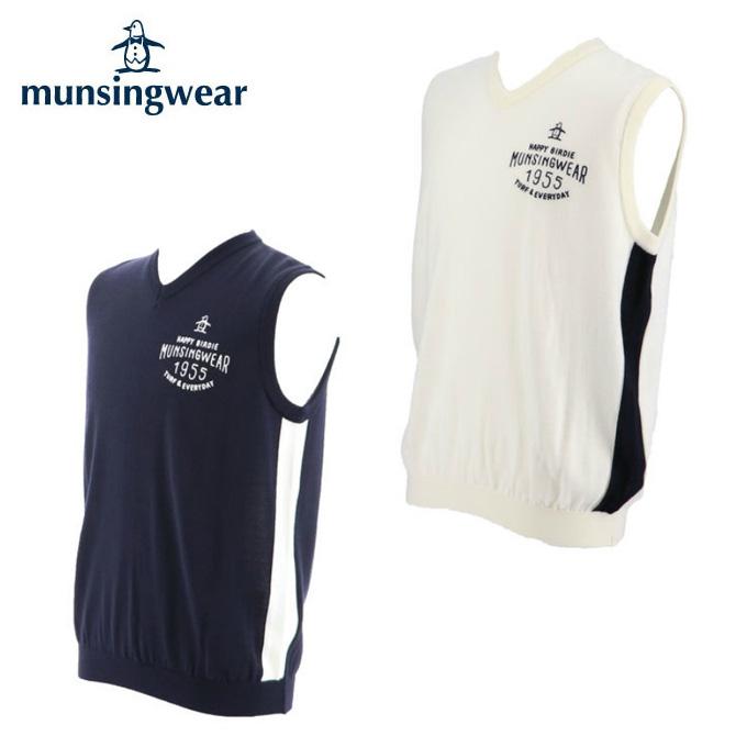 マンシング Munsingwear ゴルフウェア ベスト メンズ 切替デザインVネックベスト MGMMJL82