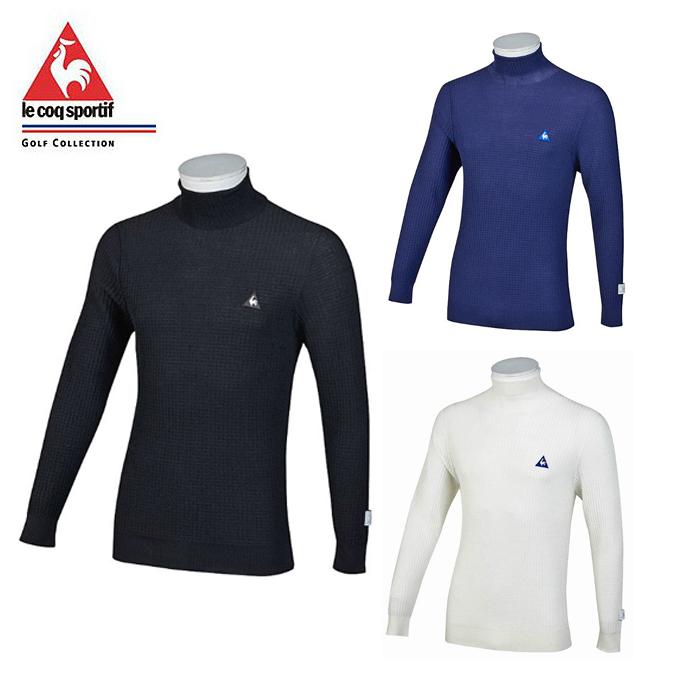 coq セーター le ゴルフウェア sportif ルコック QGMMJL04 ハイゲージハイネックセーター メンズ