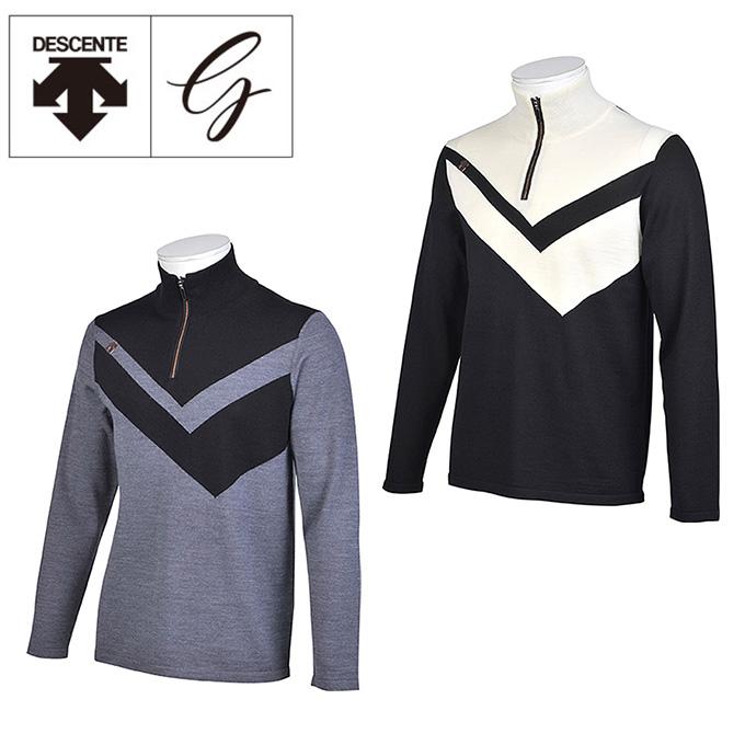 デサントゴルフ DESCENTE GOLF ゴルフウェア セーター メンズ 切り替え ジップスタンド DGMMJL02