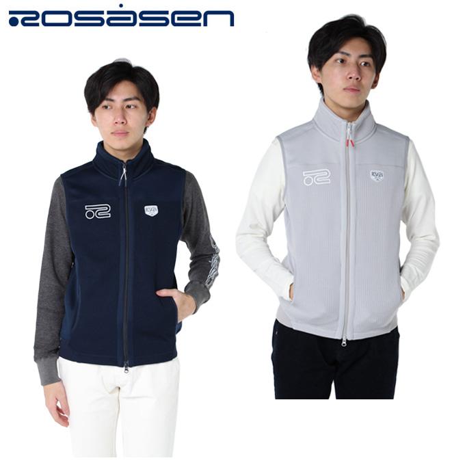 ロサーセン ROSASEN ゴルフウェア ベスト メンズ クォーター編み 044-48870