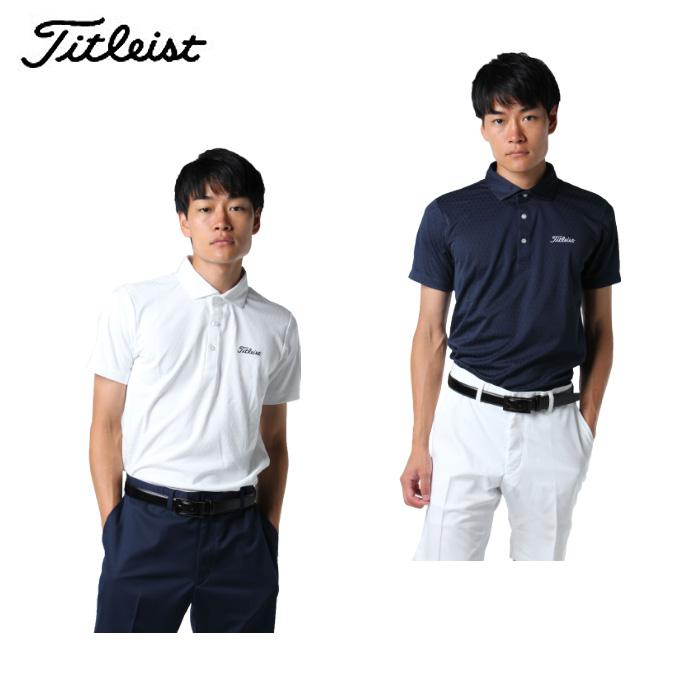 タイトリスト Titleist ゴルフウェア ポロシャツ 半袖 メンズ ダイヤ柄ヲーターリペレント TWMC1802