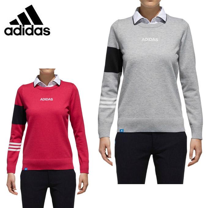 アディダス ゴルフウェア セーター レディース アディクロス adicross L/S クルーネックセーター CCT12 adidas