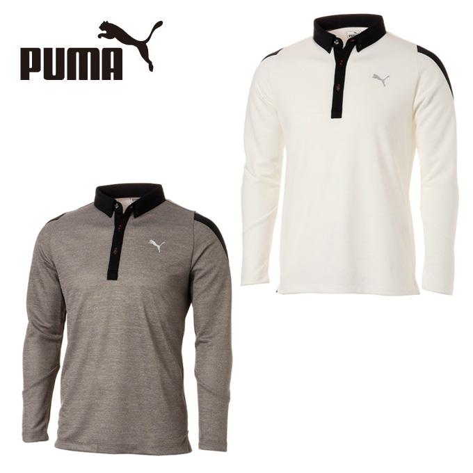 プーマ ゴルフウェア ポロシャツ 長袖 メンズ ゴルフ PUMAロゴ LS ポロシャツ 923754 PUMA