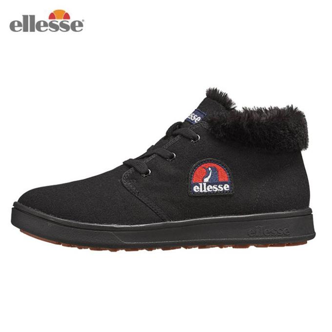 エレッセ ellesse スノーブーツ 冬靴 レディース ヘリテージ エットーレ ウインターチャッカ カジュアル 靴 EFH8324 K