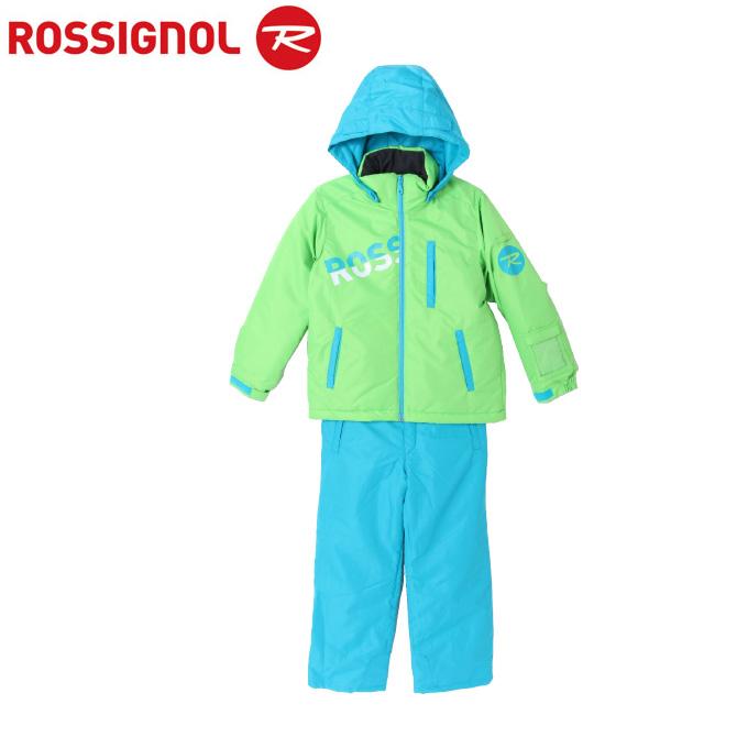 【ポイント15倍 10/11 8:59まで】 ロシニョール ROSSIGNOL スキーウェア 上下セット ジュニア ROSSI JR SUITS BOY LimeBlue スーツ ボーイ ライムブルー RLFJJST02 サイズ調整機能 スノーウェア