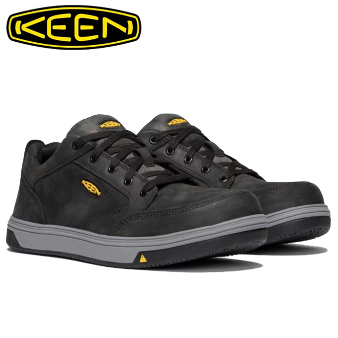 キーン KEEN スニーカー メンズ レディング エーティー ワークシューズ 1020074 BK/GY