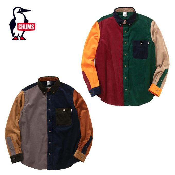チャムス CHUMS 長袖シャツ メンズ BD Corduroy Shirt BDコーデュロイシャツ CH02-1091