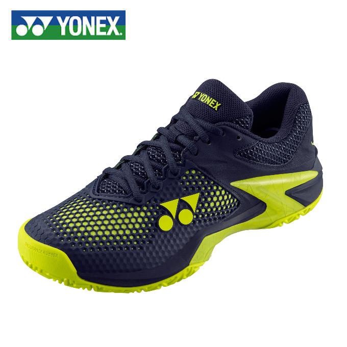 ヨネックス テニスシューズ オールコート メンズ パワークッションエクリプション2 メン AC SHTE2MAC-761 3E YONEX ネイビー/イエロー