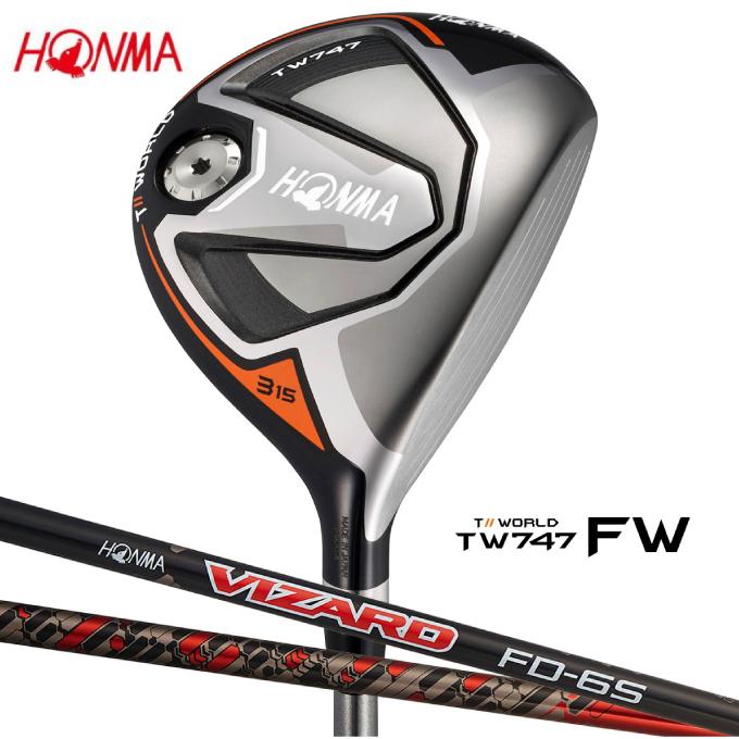 本間ゴルフ HONMA ゴルフクラブ フェアウェイウッド メンズ TW747-FW シャフト VIZARD FD6