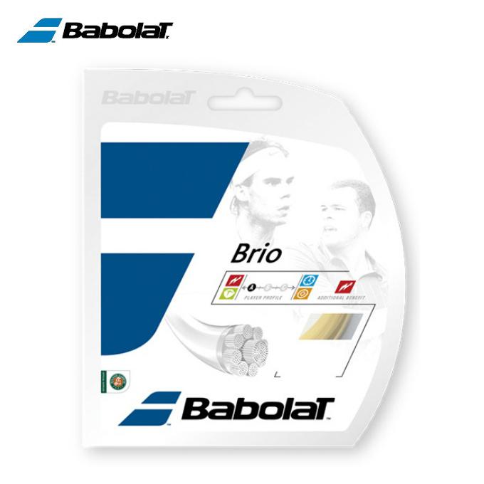 購入後レビュー記入でクーポンプレゼント中 バボラ テニスガット 硬式 単張り 定番の人気シリーズPOINT(ポイント)入荷 現品 ナイロンマルチフィラメント BA241118-125 Babolat ブリオ125