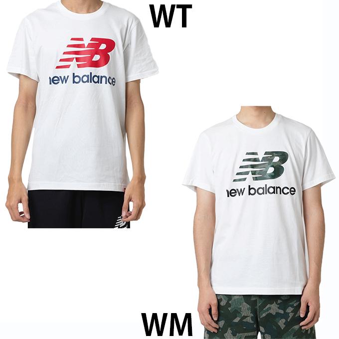 8eb3d137da7d6 ニューバランスTシャツ半袖メンズエッセンシャルスタックドロゴTシャツAMT91546newbalance