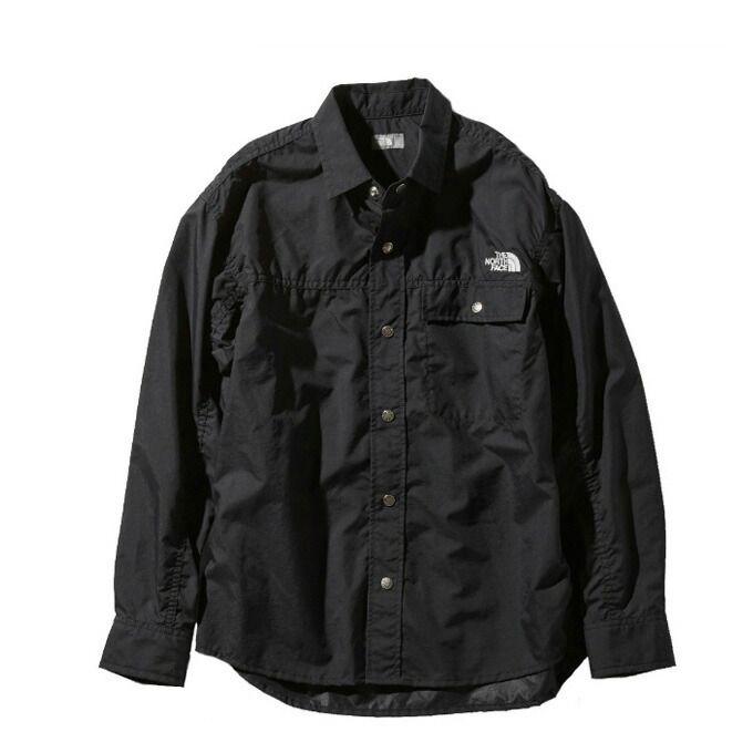 ノースフェイス 長袖シャツ メンズ レディース L/S Nuptse Shirt ヌプシ シャツ NR11961 K THE NORTH FACE アウトドアシャツ