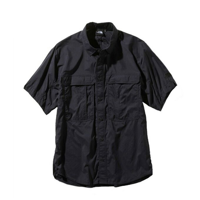 ノースフェイス 半袖シャツ メンズ レディース /S Meridian Shirt メリディアン シャツ NR21963 K THE NORTH FACE