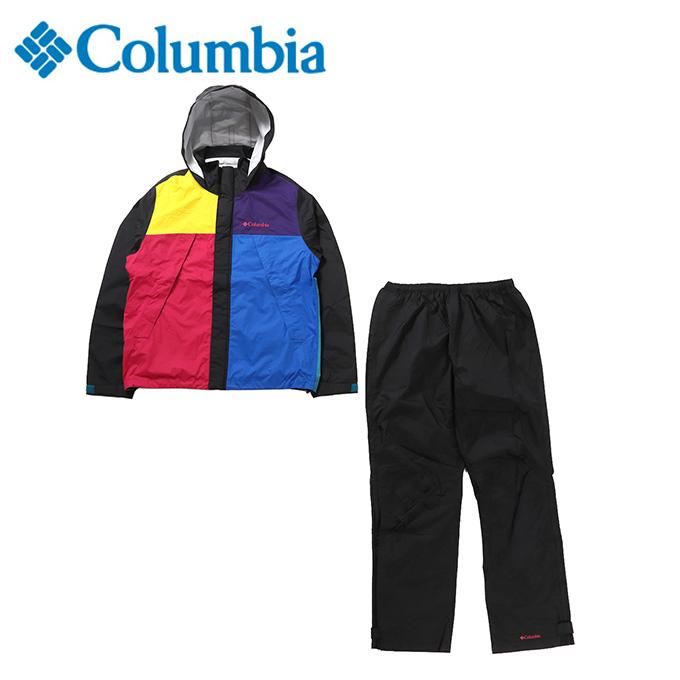コロンビア レインウェア 上下セット メンズ シンプソンサンクチュアリ レインスーツ PM0124 013 Columbia