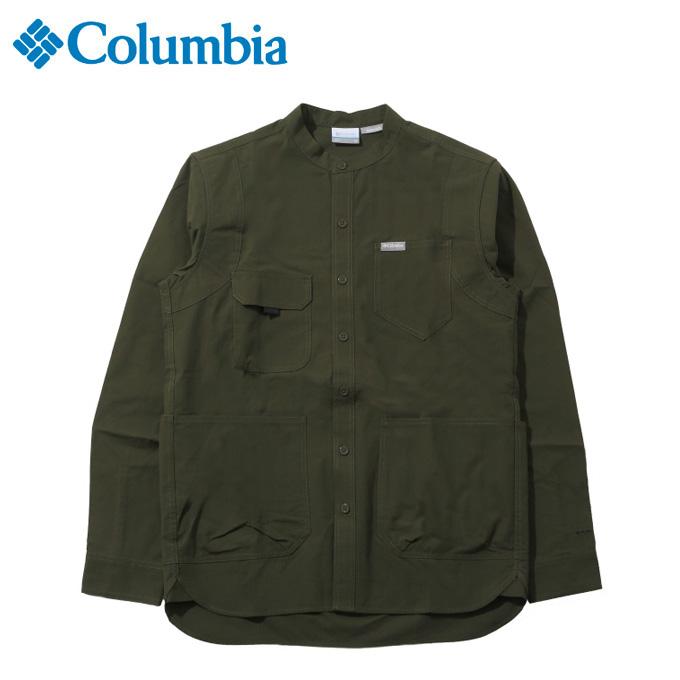 コロンビア 長袖シャツ メンズ ヒューソンパーク LS SH PM6521 347 Columbia