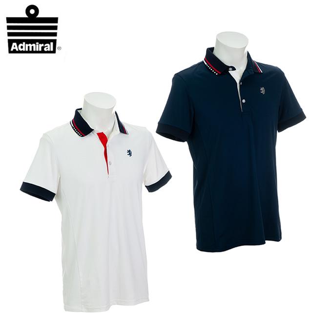 アドミラル Admiral ゴルフウェア ポロシャツ 半袖 メンズ 7Wストレッチ ADMA906