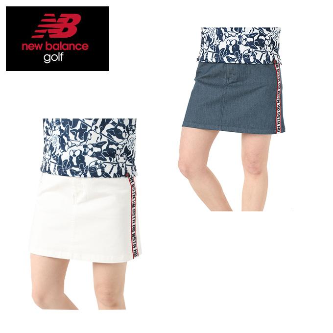 ニューバランス ゴルフウェア スカート レディース デニムライク ストレッチツイル WOMENS METRO ウィメンズ 012-9134504 new balance