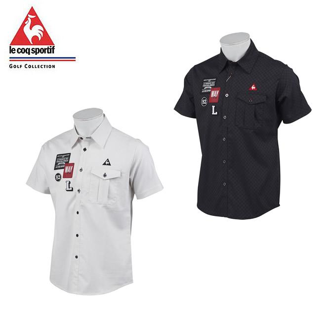 ルコック le coq sportif ゴルフウェア ポロシャツ 半袖 メンズ ストレッチチェッカー半袖ポロ QGMNJA71