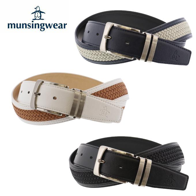 マンシング Munsingwear ゴルフ ベルト メンズ 光沢メッシュベルト MGBNJH12