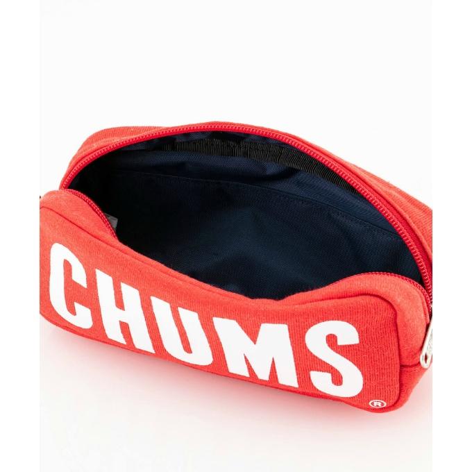購入後レビュー記入でクーポンプレゼント中 チャムス CHUMS お見舞い 送料0円 ポーチ メンズ ペンケース レディース ボートロゴポーチスウェット CH60-2712