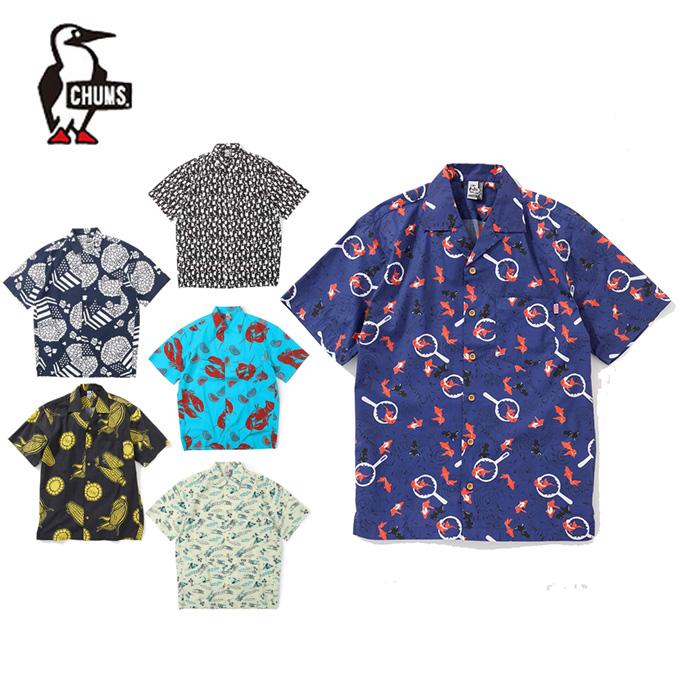 チャムス CHUMS 半袖シャツ メンズ Chumloha Shirt チャムロハシャツ シャツ CH02-1105 アウトドアシャツ