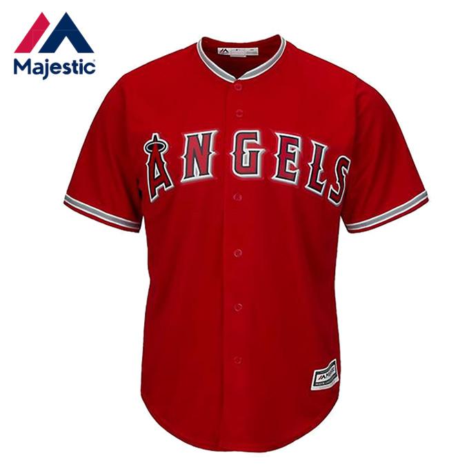 マジェスティック 野球ウェア 半袖Tシャツ メンズ ロサンゼルス・エンゼルス 赤 7700-ANGB-ANG-RJB Majestic