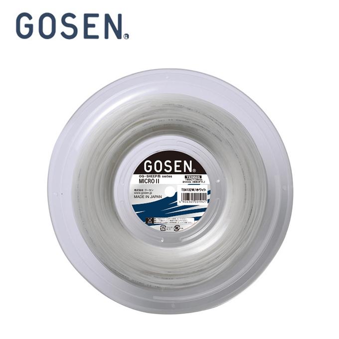 ゴーセン GOSEN 硬式テニスガット ミクロ2 16L 220M TS4132W