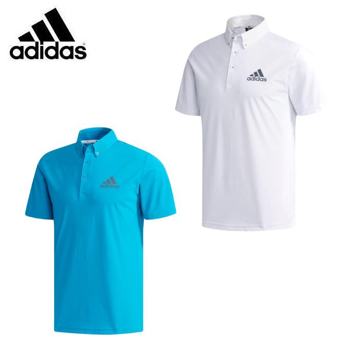 アディダス ゴルフウェア ポロシャツ 半袖 メンズ クライマクール 4WAYストレッチ 半袖 ボタンダウンシャツ ETS03 adidas