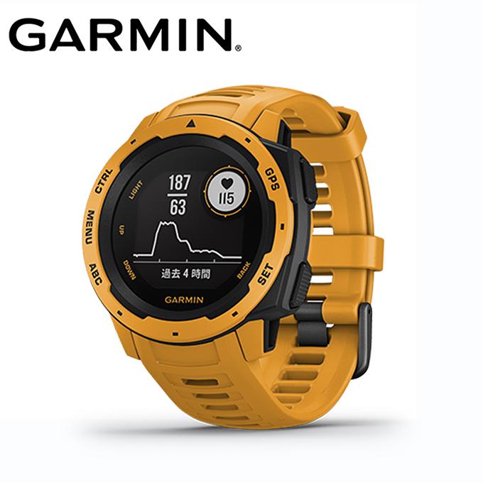 【5/5はクーポンで1000円引&エントリーかつカード利用で14倍】 ガーミン ランニング 腕時計 メンズ レディース Instinct Sunburst 010-02064-42 GARMIN