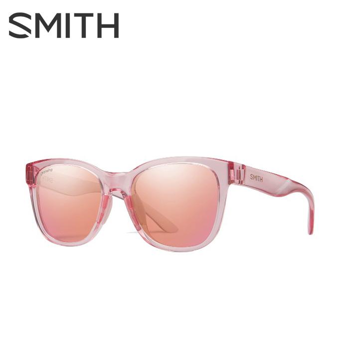 【5/5はクーポンで1000円引&エントリーかつカード利用で5倍】 スミス SMITH サングラス メンズ レディース Caper Pink Crystal ケイパー ピンク クリスタル CAPERPINK CRYSTAL/CP-CONT ROSE