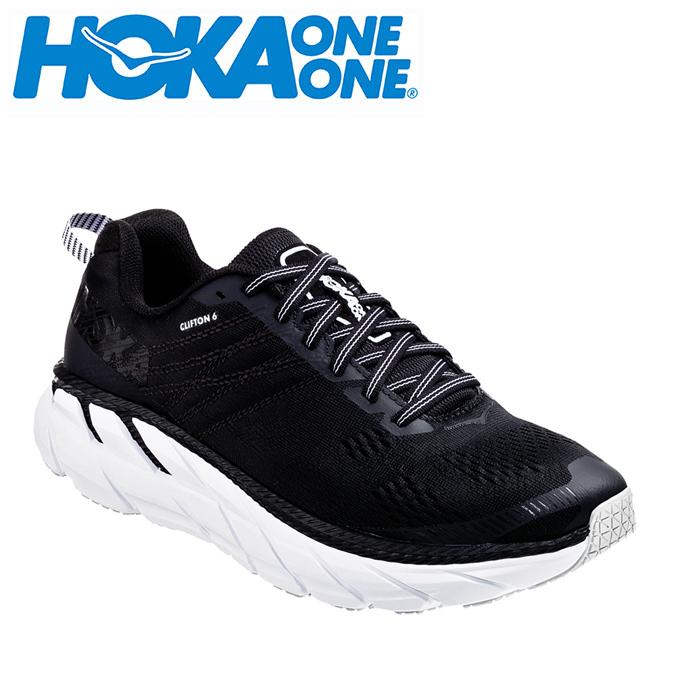 ホカ オネオネ HOKA ONEONE ランニングシューズ レディース CLIFTON 6 クリフトン 1102877 BWHT