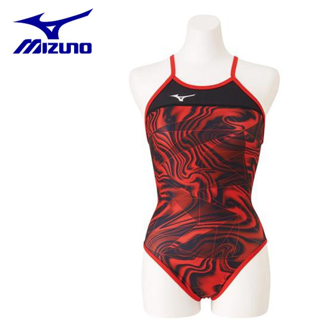 ミズノ トレーニング水着 レディース 競泳練習用 Rikako Ikee Collection ミディアムカット N2MA9766-62 MIZUNO