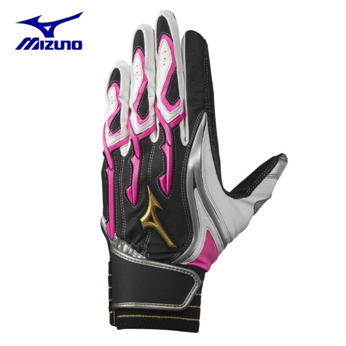 ミズノ 野球 バッティンググローブ 両手用 メンズ レディース シリコンパワーアーク W-Leather 1EJEA06109 MIZUNO