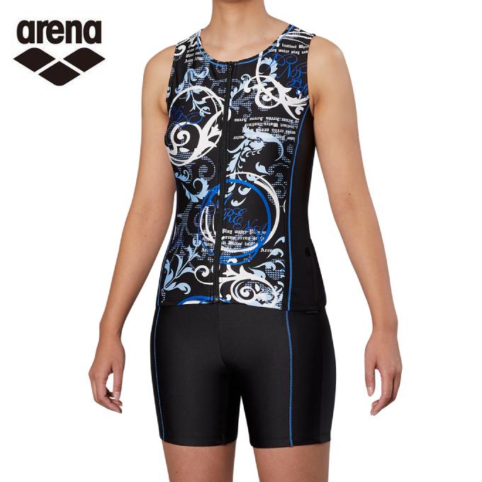 印象のデザイン アリーナ arena フィットネス水着 レディース セパレート レディース arena 大きめカラースナップ付きセパレーツ 差し込みフィットパッド FLA-9939W-BLU FLA-9939W-BLU, 安田屋呉服店:9eb18316 --- enduro.pl