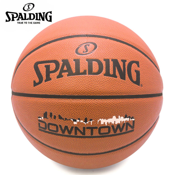 購入後レビュー記入でクーポンプレゼント中 新作通販 スポルディング 上質 バスケットボール 7号球 SPALDING ダウンタウン 76-499J DOWNTOWN