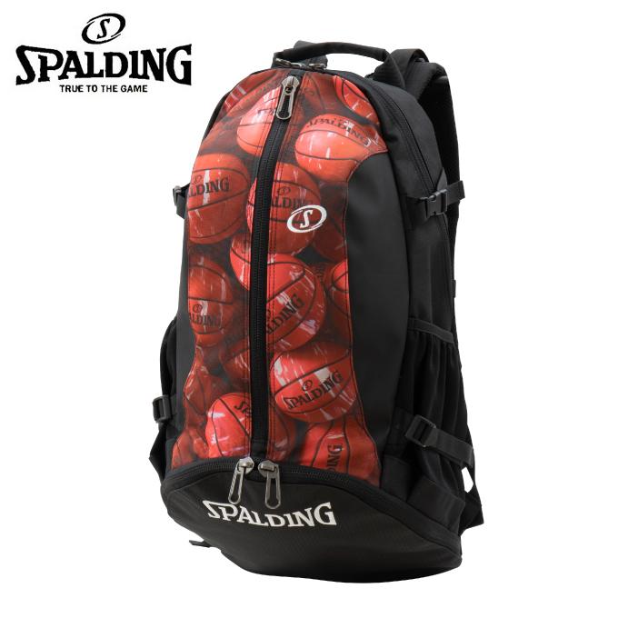 【3/25はクーポンで1000円引】 スポルディング SPALDING バスケットボール バックパック メンズ レディース CAGER MARBLE RED ケイジャー マーブルレッド 40-007MRD