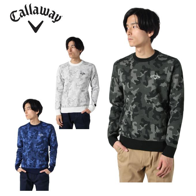 キャロウェイ ゴルフウェア セーター メンズ カモジャカードクルーネックセーター 241-9260501 Callaway