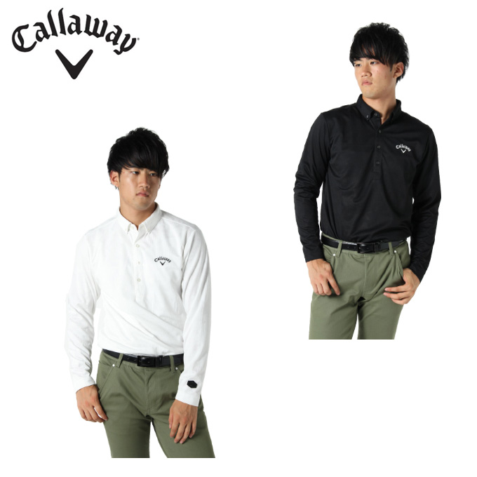 キャロウェイ ゴルフウェア ポロシャツ 長袖 メンズ カモジャカード長袖シャツ 241-9256503 Callaway