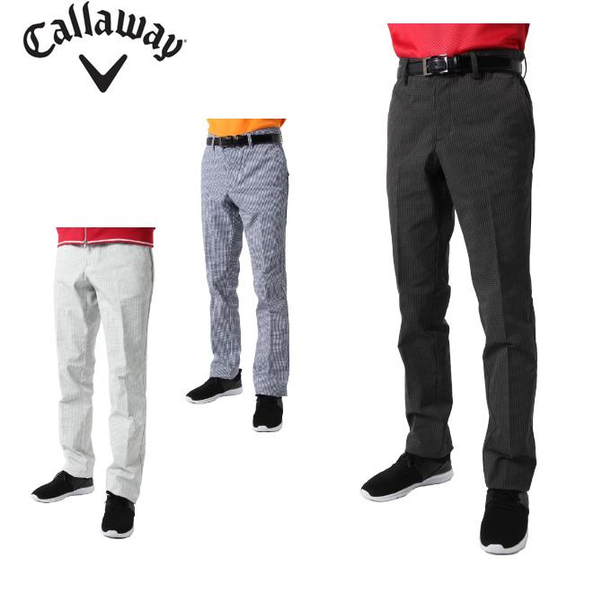 キャロウェイ ゴルフウェア ロングパンツ メンズ ヘリンボーンプリントストレートパンツ 241-9220509 Callaway
