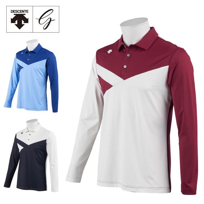 デサントゴルフ DESCENTE GOLF ゴルフウェア 長袖シャツ メンズ ナイロンスムース長袖シャツ DGMOJB02