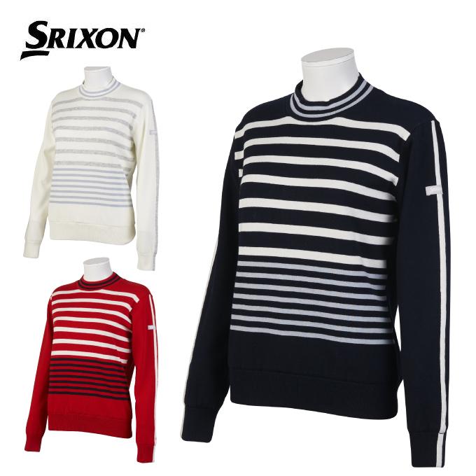 スリクソン SRIXON ゴルフウェア セーター レディース パネルボーダーモックネックセーター RGWOJL03