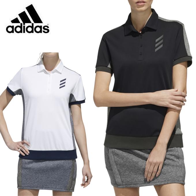 アディダス adidas ゴルフウェア ポロシャツ 半袖 レディース ADICROSS アディクロス コンビネーション 半袖シャツ FYO50