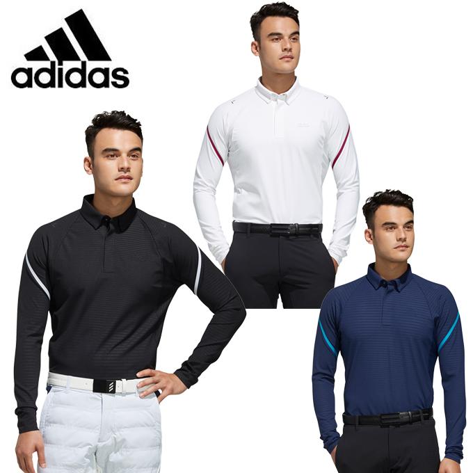 アディダス ゴルフウェア ポロシャツ 長袖 メンズ パフォーマンス ISポロシャツ perfm lspolo GHS95 adidas