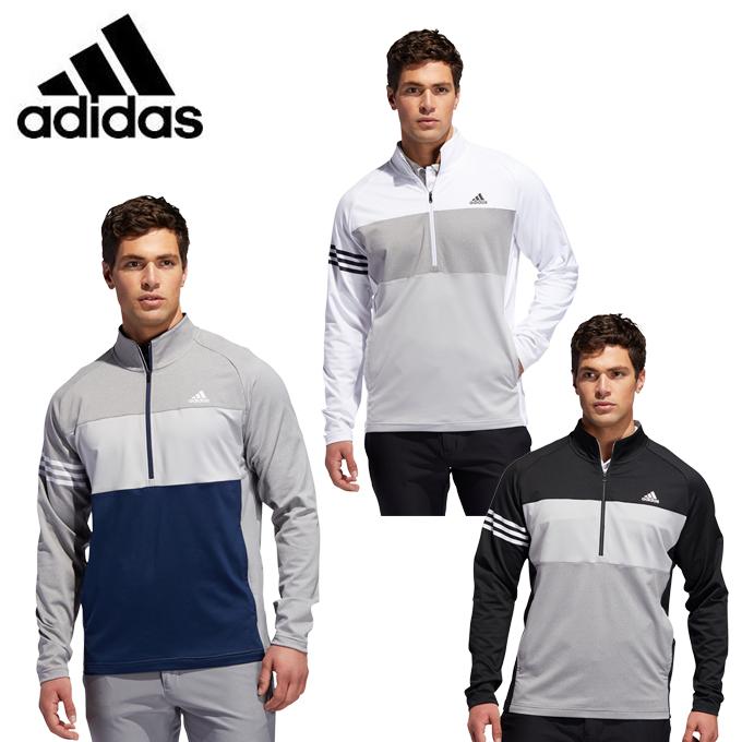 アディダス ゴルフウェア スウェット メンズ カラーブロック 長袖ジップレイヤー FWJ12 adidas