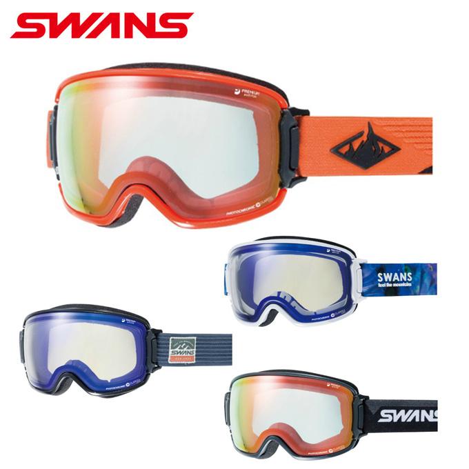 【ポイント5倍 2/15 0:00~2/17 9:59】 スワンズ SWANS スキー スノーボードゴーグル メンズ レディース MITミラー調光レンズRIDGELINE メガネ対応 RL-C/MDH-SC-MIT-PAF