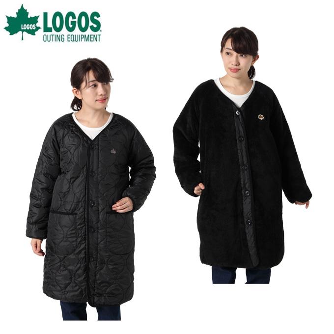 ロゴス LOGOS コート レディース シャギーボアヤヌスロング 9486-4363 49 Black