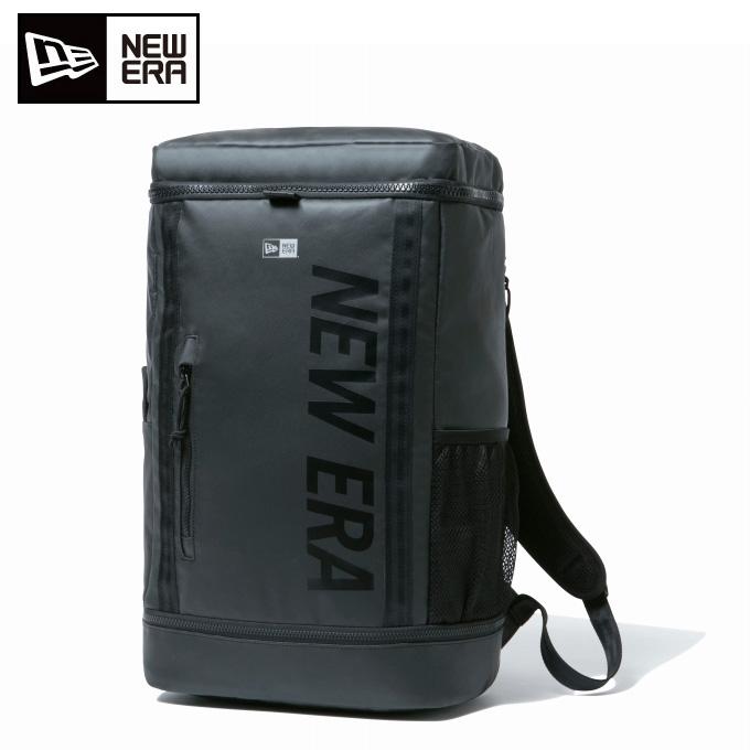 ニューエラ NEW ERA バックパック メンズ レディース ボックスパック 26L プリントロゴ ブラックターポリン × ブラック 12108789