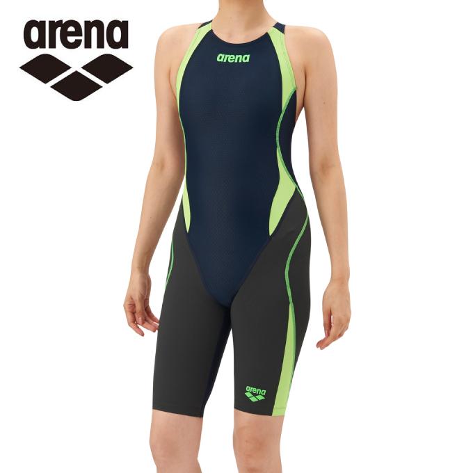 アリーナ FINA承認 競泳水着 スパッツ レディース アクアハイブリッド セイフリーバックスパッツ 着やストラップ ARN-8080W-NVGF arena