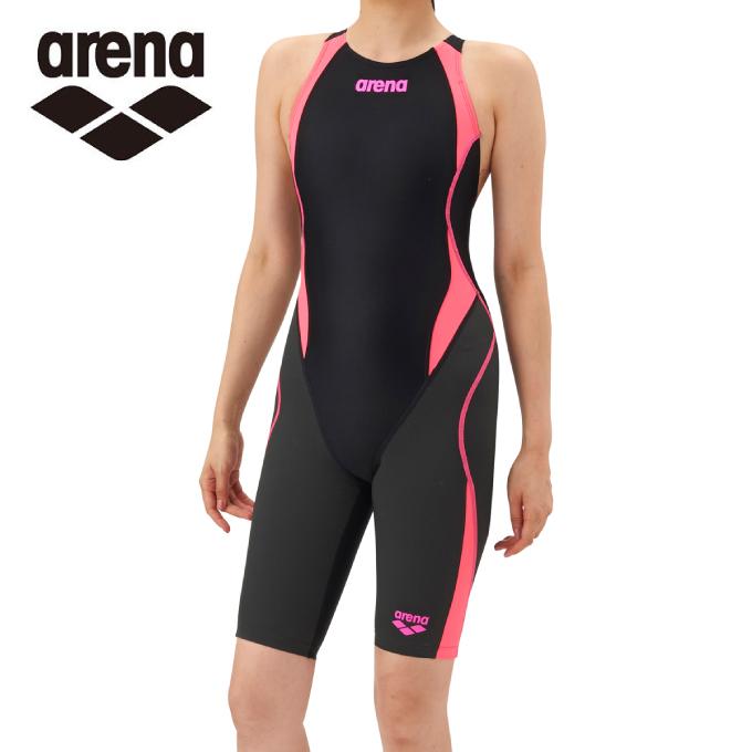 アリーナ FINA承認 競泳水着 スパッツ レディース アクアハイブリッド セイフリーバックスパッツ 着やストラップ ARN-8080W-BKPF arena