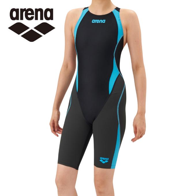 【5/5はクーポンで1000円引&エントリーかつカード利用で5倍】 アリーナ arena FINA承認 競泳水着 スパッツ レディース アクアハイブリッド セイフリーバックスパッツ 着やストラップ ARN-8080W-BKBF